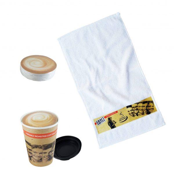 Gepresste Handtücher